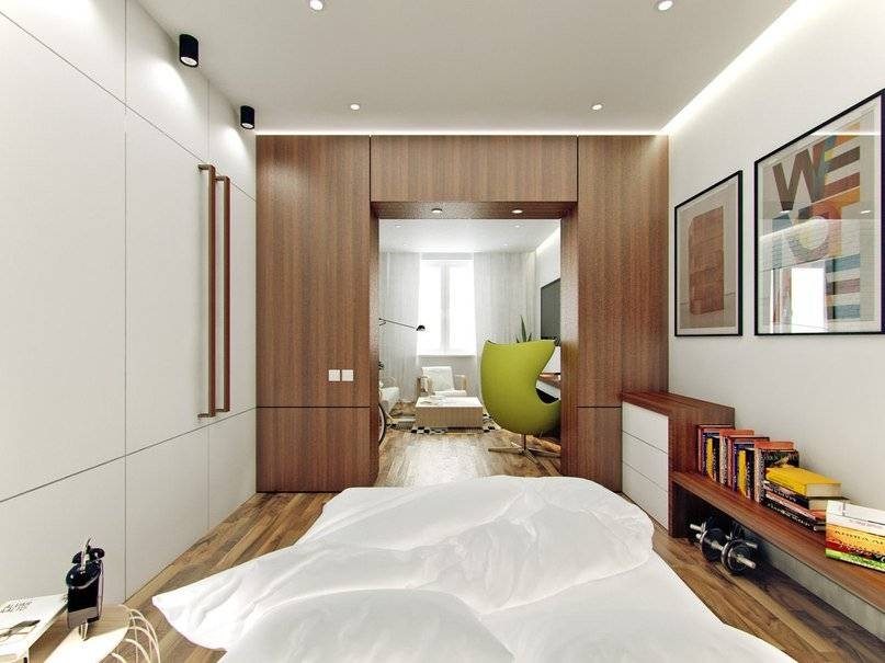 Как обставить интерьер в узких и длинных спальных комнатах