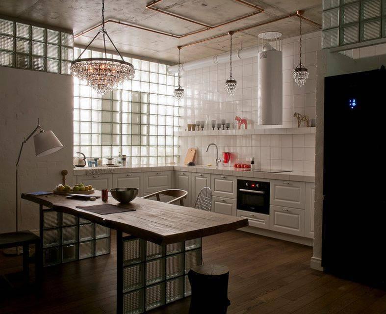 40 идей дизайна кухни в стиле лофт