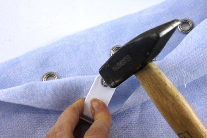 Как установить люверсы на тент своими руками