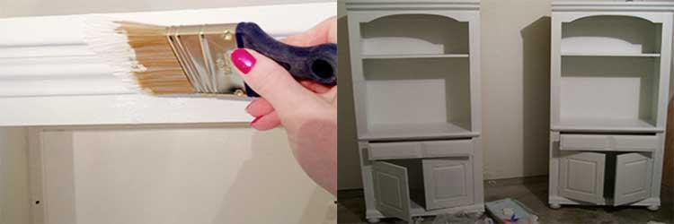 Перекрашиваем ламинированную мебель - все этапы работы