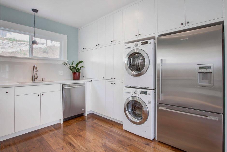 9 мест куда поставить стиралку на кухне
