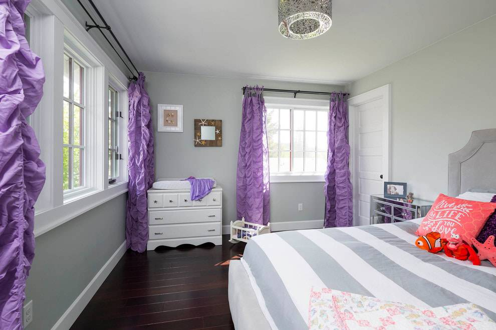 Яркие шторы в интерьере — 55 фото красивого оформления