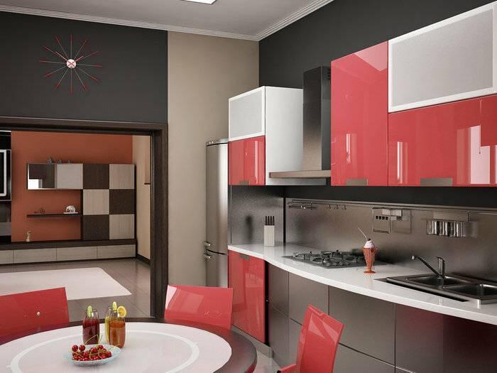 Серая кухня в интерьере: примеры оформления, сочетания, выбор отделки и штор