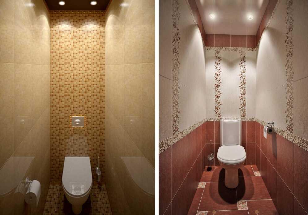 Дизайн интерьера туалета с керамической плиткой