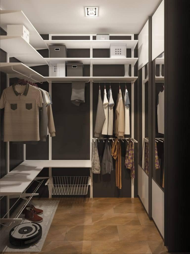 Маленькая гардеробная комната в вашем доме - 45 стильных фото