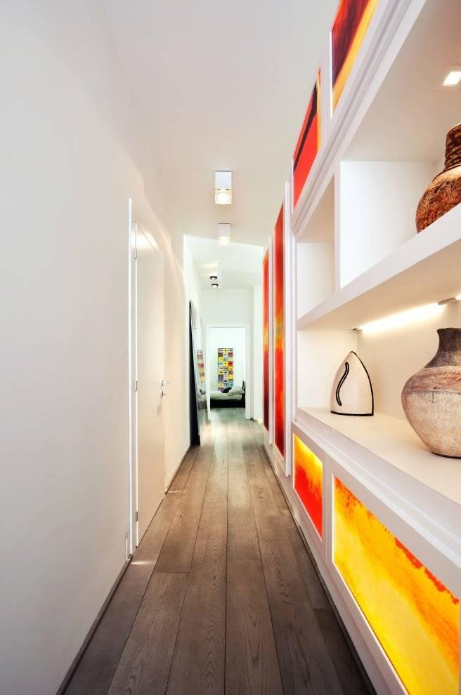 Длинный коридор — варианты дизайна интерьера