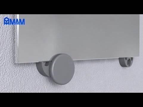 Варианты крепления зеркала в ванной комнате