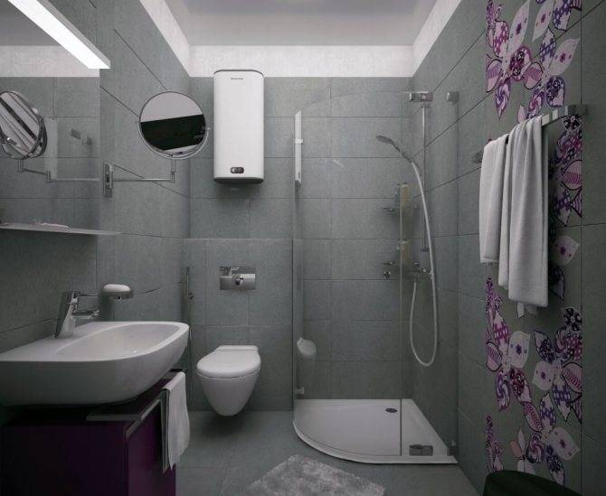 Дизайн маленького совмещенного санузла— 25 фото сидеями для ванной