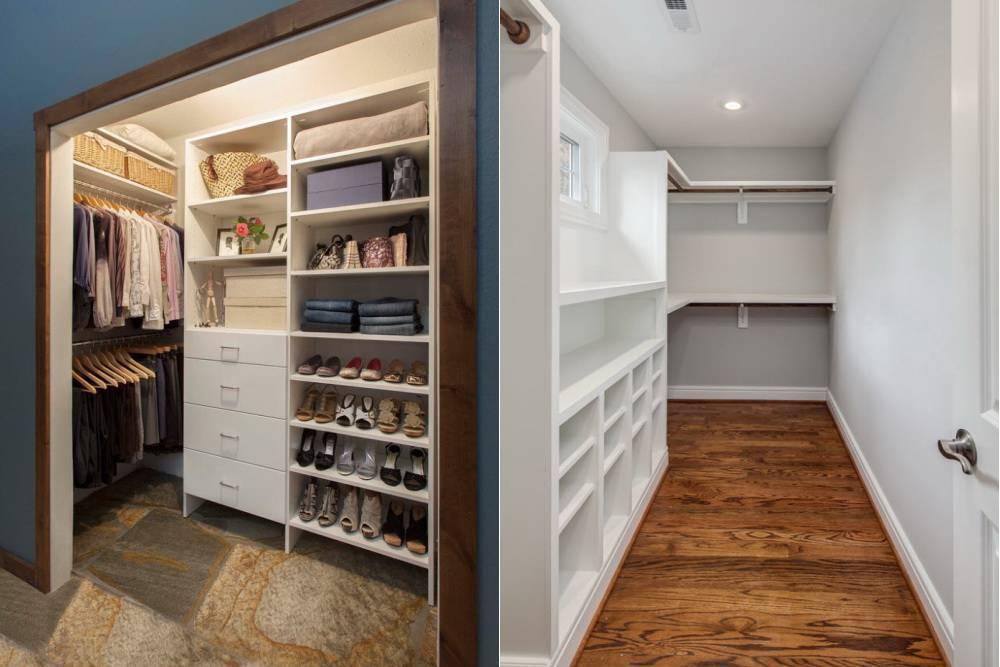 Как сделать маленькую гардеробную: планировка, дизайн и важные детали