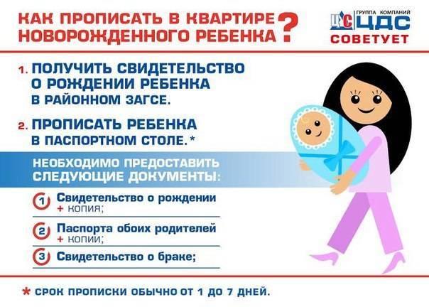 Документы для прописки ребенка. как прописать новорожденного в квартиру | юридические советы