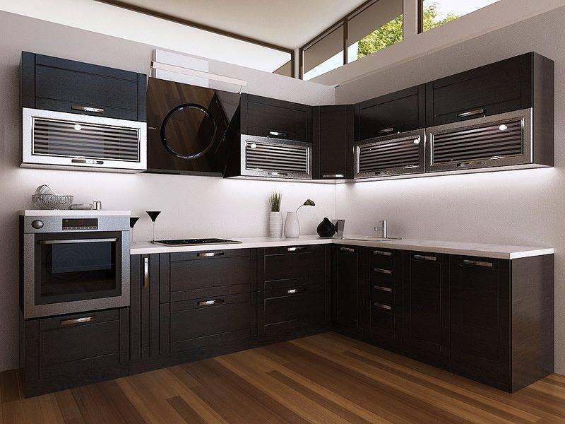 Кухни венге (75 фото): сочетание кухонного гарнитура венге с белым и бежевым, примеры дизайна интерьера с угловой кухней цвета венге