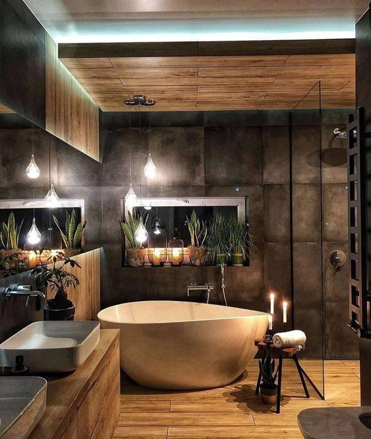 Ванная комната в стиле лофт: дизайн и цветовые решения своими руками