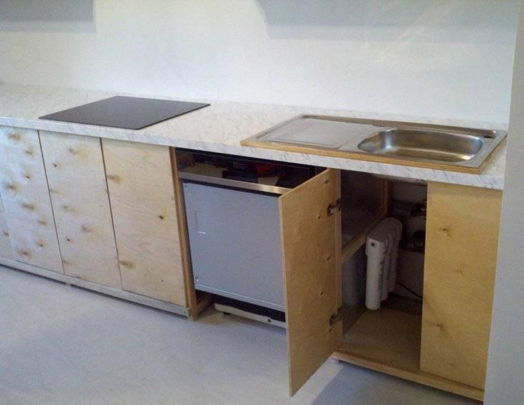 Кухонная мебель по готовым чертежам с размерами: изготовление и декорирование своими руками