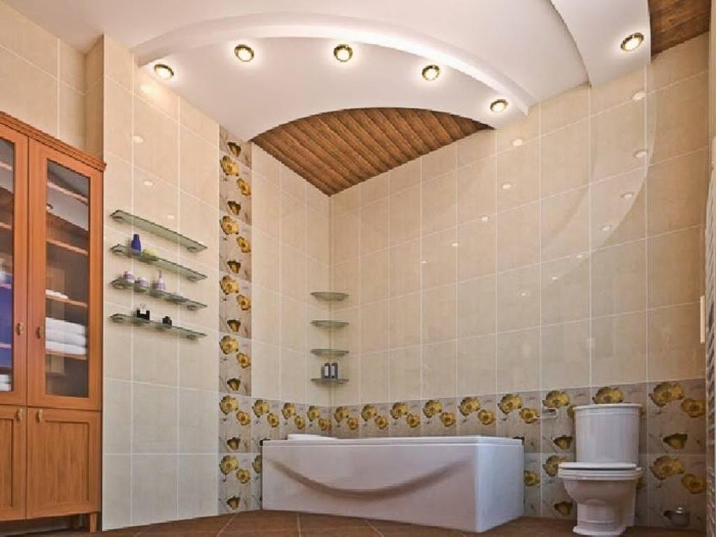 Дизайн потолка в ванной. типы конструкций и выбор материалов