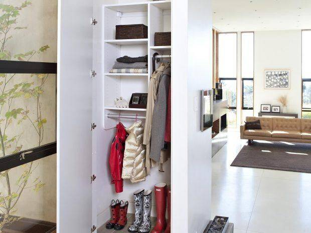 Оформление гардеробной в прихожей, фото дизайна