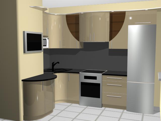 Удачный дизайн кухни с воздуховодом планировки п44: угловые и прямые конструкции