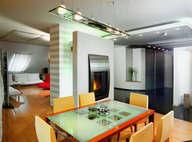 Зонирование кухни и гостиной: 65 красивых идей, дизайн интерьера (фото)