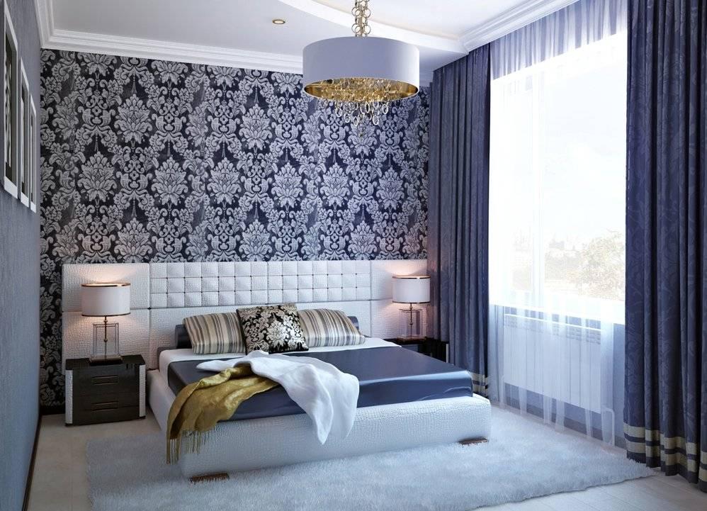 Комбинированные обои в спальне: оригинальные идеи оформления интерьера (105 фото)