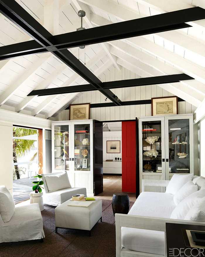 Декоративные потолочные балки – полая имитация