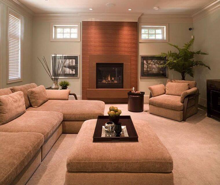 Интерьер гостиной комнаты эконом-класса в современном стиле фото