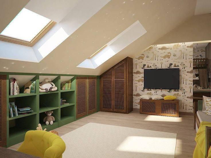 Дизайн мансардного этажа (136 фото): варианты интерьера мансарды в частном деревянном доме, декор и оформление комнат