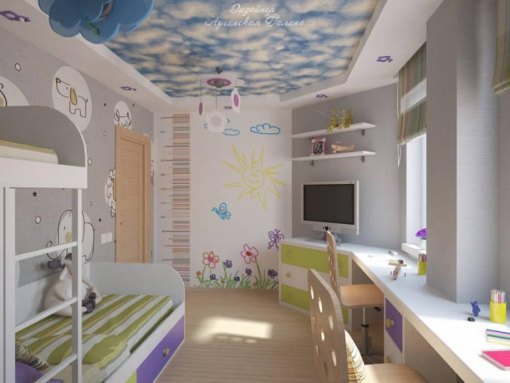 Оформление детской комнаты для девочки и мальчика: дизайн интерьера