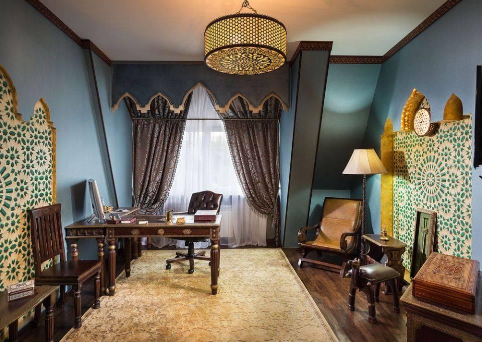 Марокканский стиль в интерьере ванной комнаты, фото, аксессуары