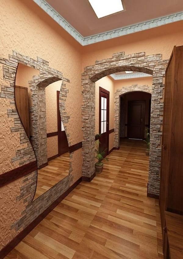 Правила отделки прихожей декоративным камнем, идеи для оформления и дизайна