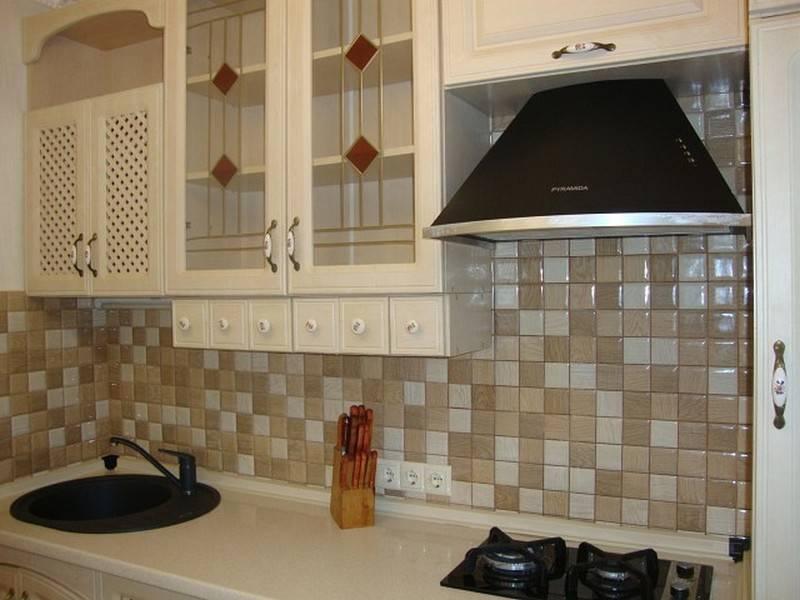 Варианты дизайна фартука из плитки для кухни