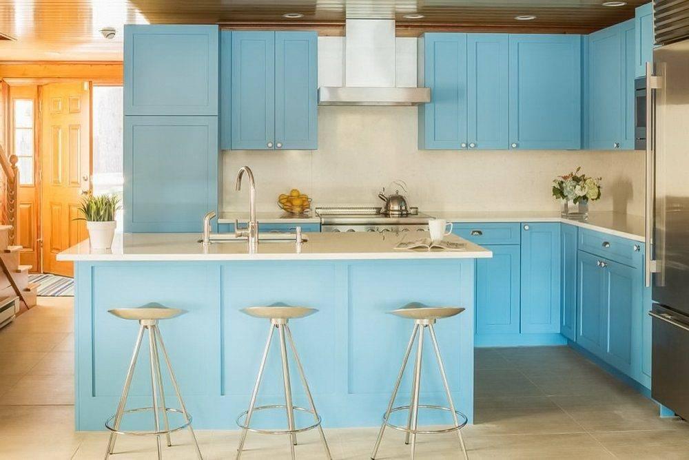 Кухня голубого цвета - свежая подборка интерьеров