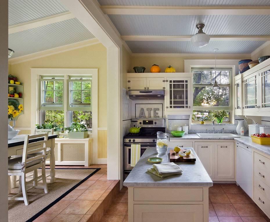 Особенности дизайна кухни-столовой в частном доме