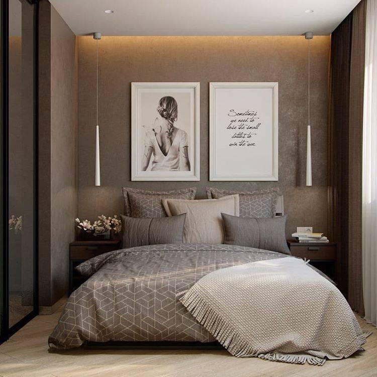 Дизайн спальни 9 кв м в современном стиле - ремонт квартир фото