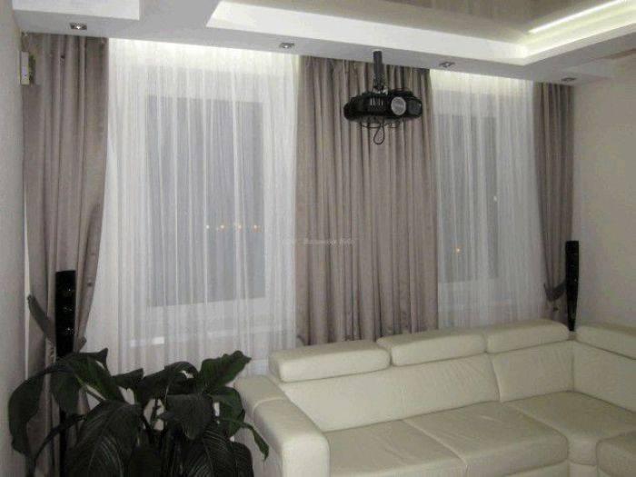 Тюль в зал без штор: разновидности, выбор, примеры