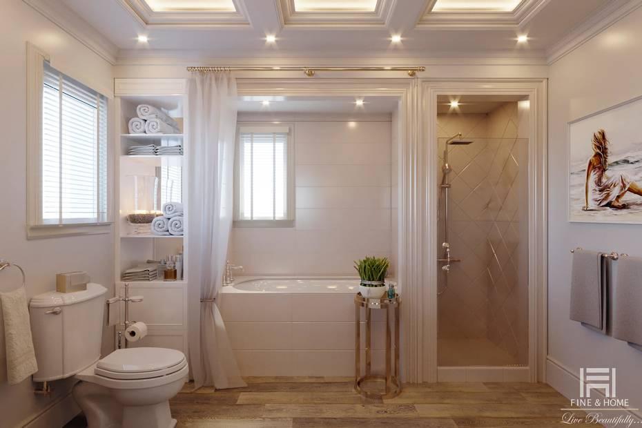 Варианты обустройства и оформления ванной комнаты в частном доме