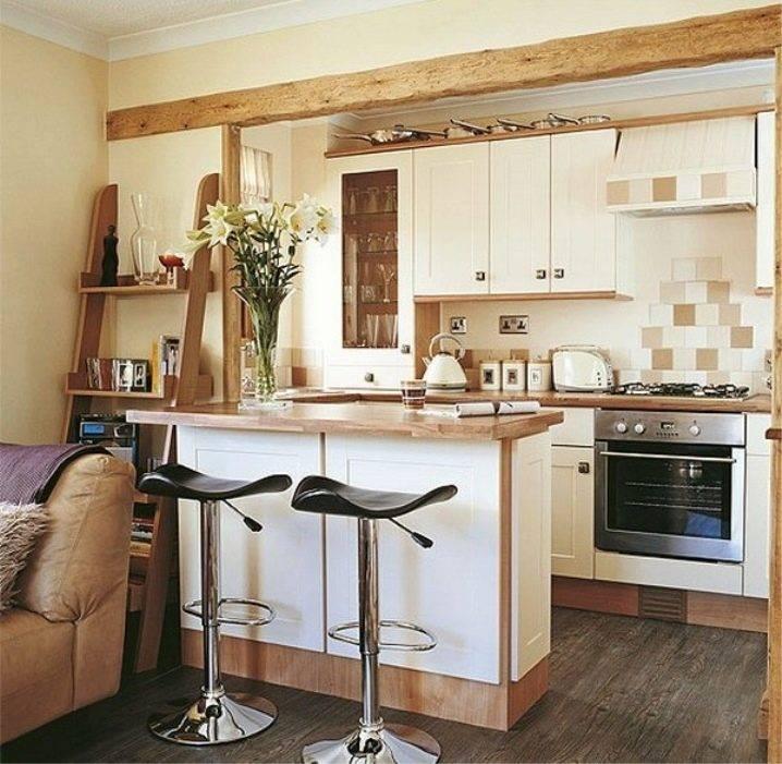 Современная кухня-гостиная с барной стойкой: 65 фото и идей