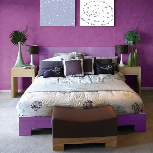 Цвет и обои спальни по фен-шуй