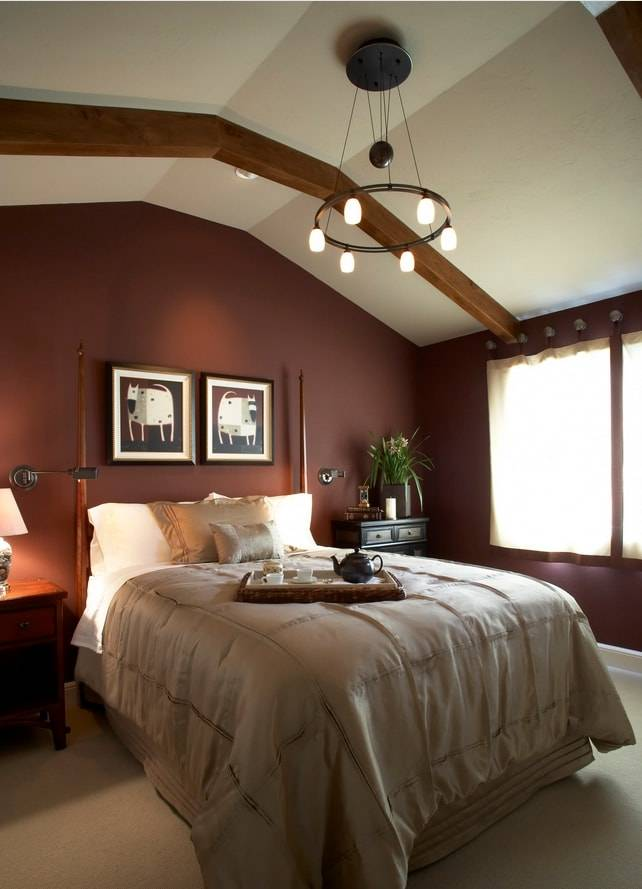 Дизайн спальни в шоколадных тонах с фото