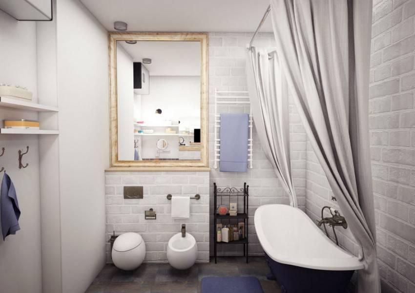 Ванная комната в стиле лофт / vantazer.ru – информационный портал о ремонте, отделке и обустройстве ванных комнат