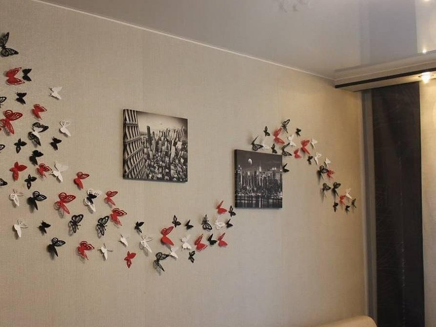 Дизайн стены бабочками своими руками