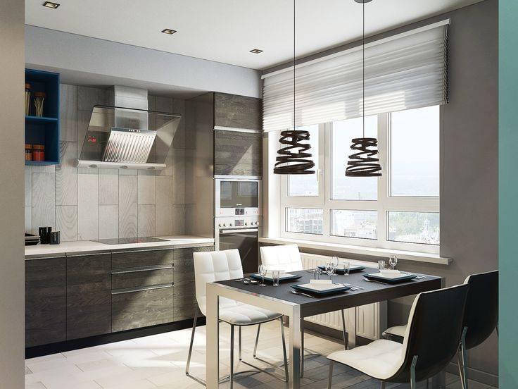 Дизайн кухни в стиле hi-tech