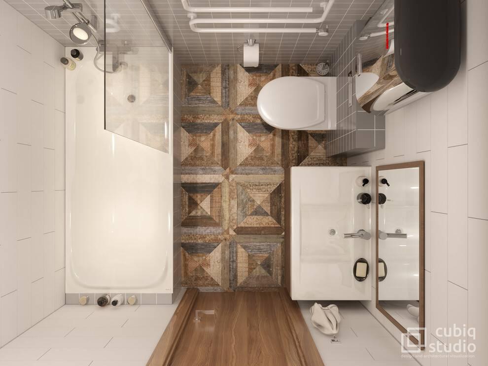 Интерьер ванной комнаты 4 кв м — отдельной и с туалетом (30 фото)