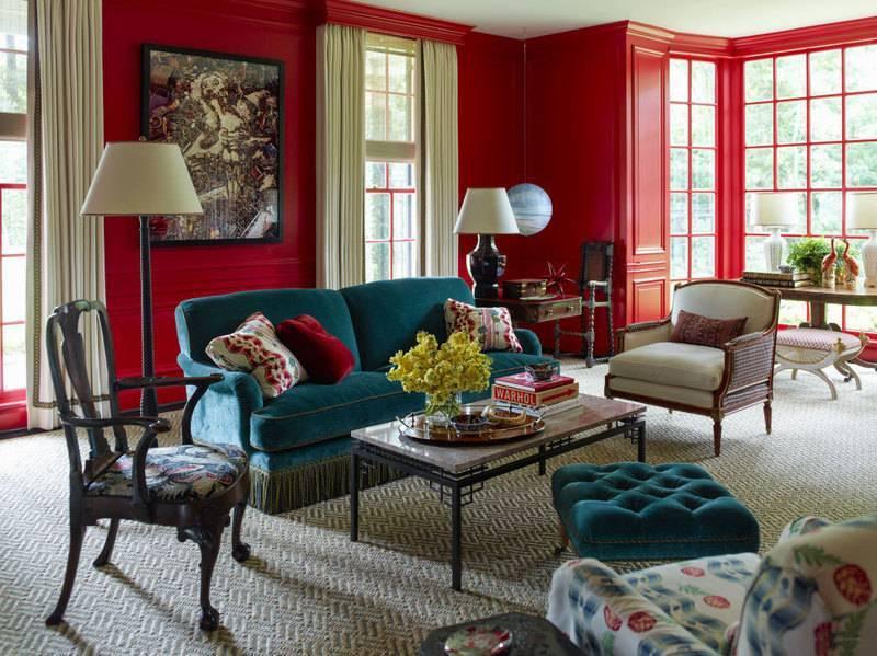 Бордовый цвет в интерьере и его сочетание с другими цветами