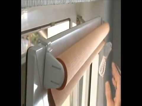 Рулонные шторы на пластиковые окна без сверления фото и видео инструкция