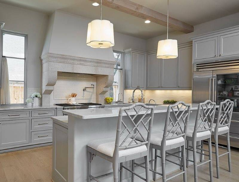 Кухня в серых цветах — фото реальных интерьеров