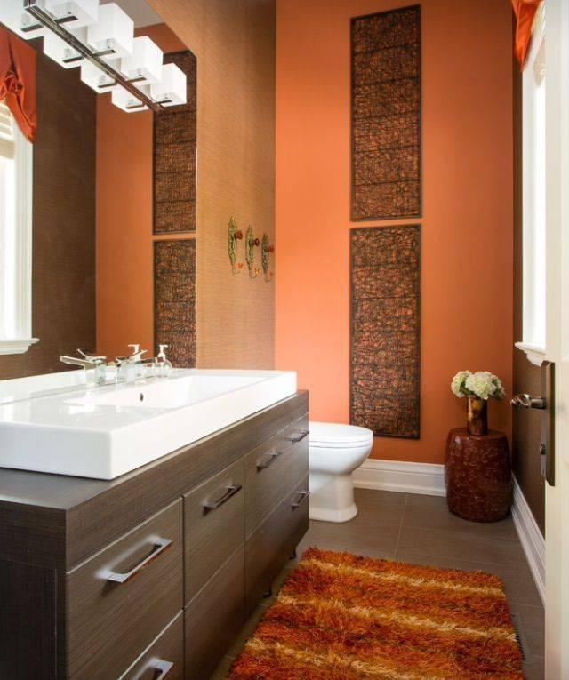 Коричневая ванная комната — уютный и спокойный дизайна (50 фото)