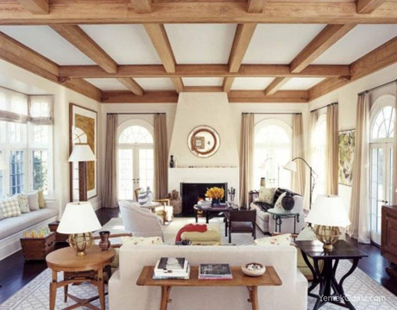 Декоративные балки на потолок: виды и монтаж