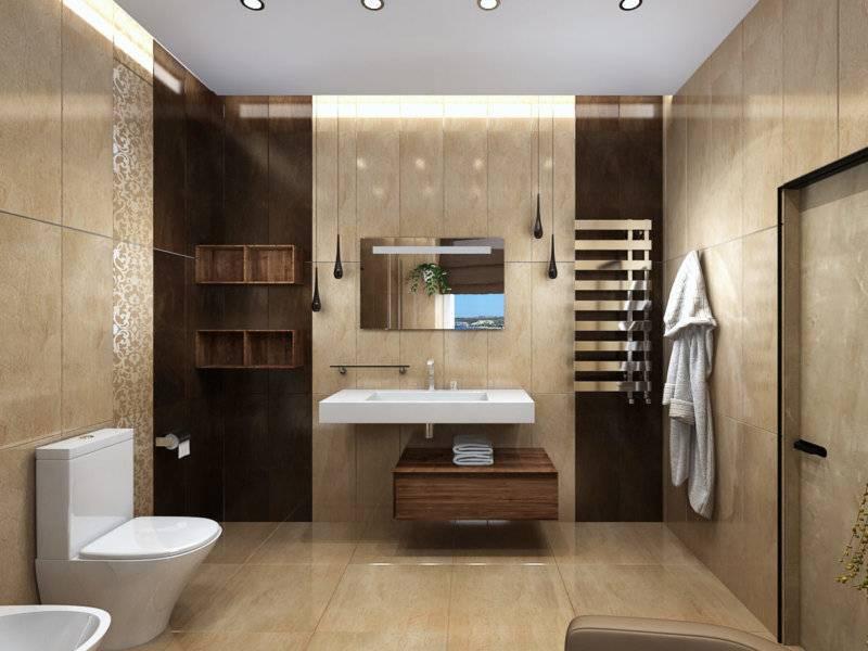Бежевая плитка для ванной: нестареющая классика в дизайне интерьера