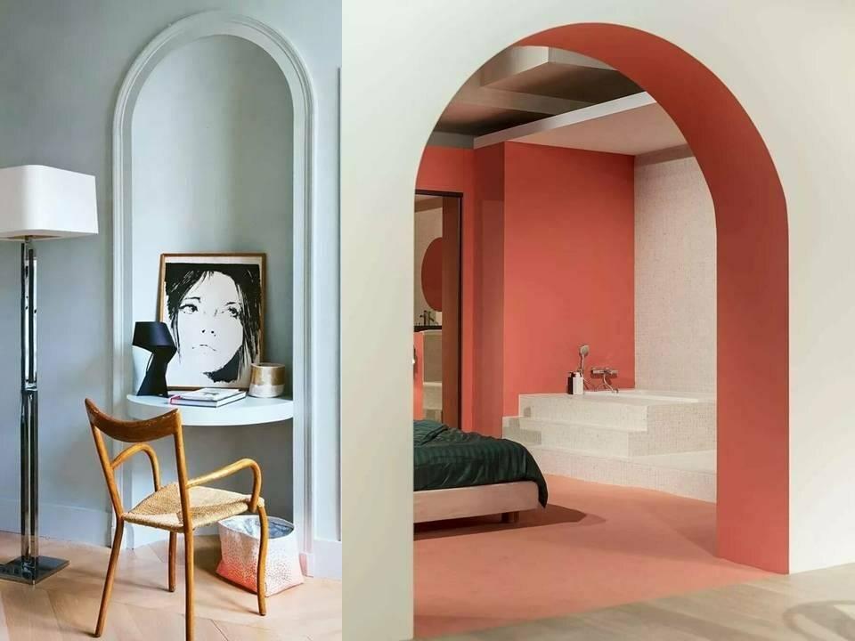 Арки в стильных интерьерах современных гостиных