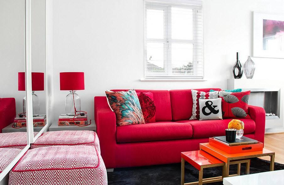 Красная мебель - 75 фото лучшего дизайна интерьера с мебелью красного цвета