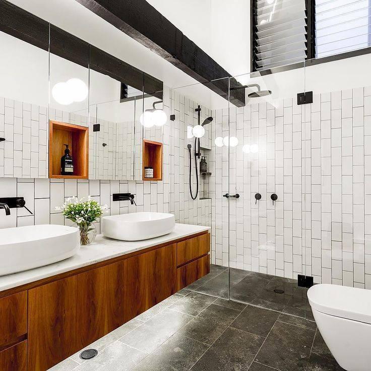 Декор ванной комнаты в стиле лофт